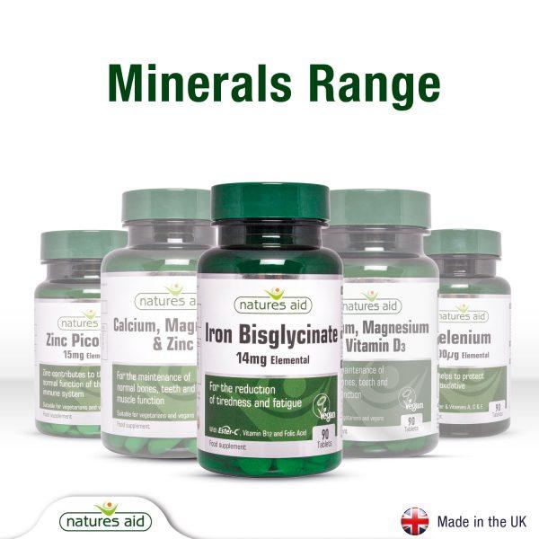 Iron Bisglycinate with Ester-C 90's - 129030_Range