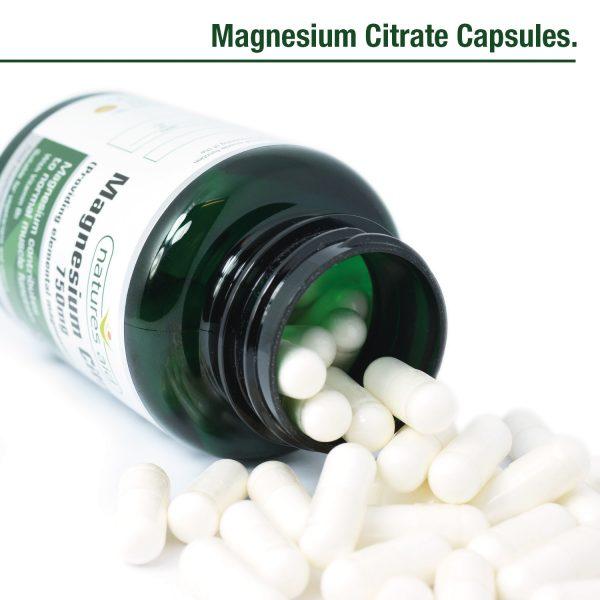 Magnesium Citrate 750mg 60's Caps - 146920_Open pot