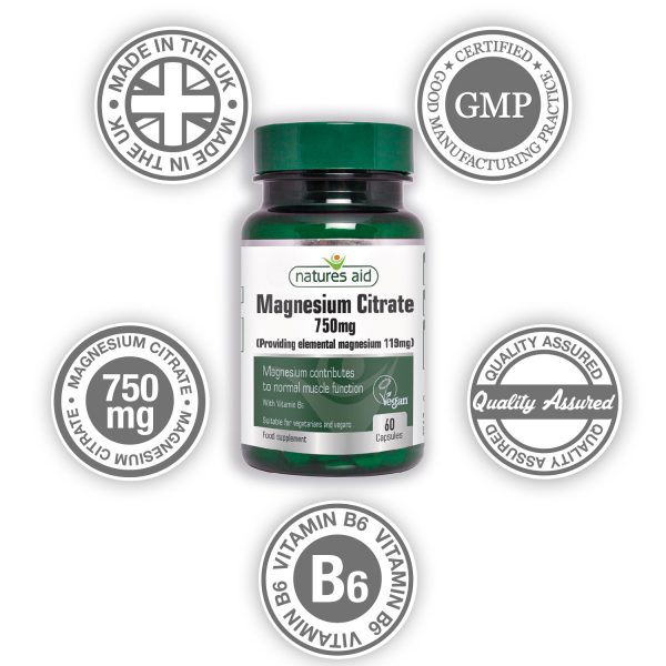 Magnesium Citrate 750mg 60's Caps - 146920_Wheel
