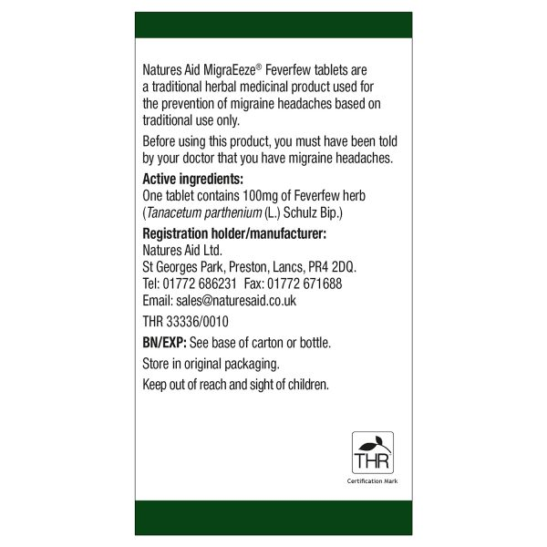 MigraEeze (Feverfew) 60's - 135420_2