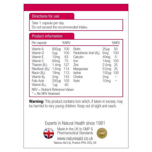 Multi-Vitamins & Minerals (with Iron) 90's - 10630_1