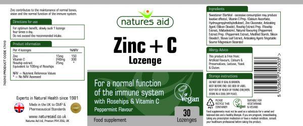 Zinc + C Lozenges (17410) 30's - 743008 120ml - 139mm x 58mm GREEN