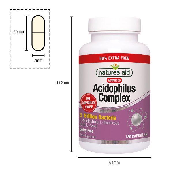 acidophilus-complex-180-capsule-and-pot-dimensions