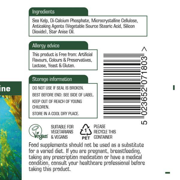 sea-kelp-food-supplement-label-information-ingredients